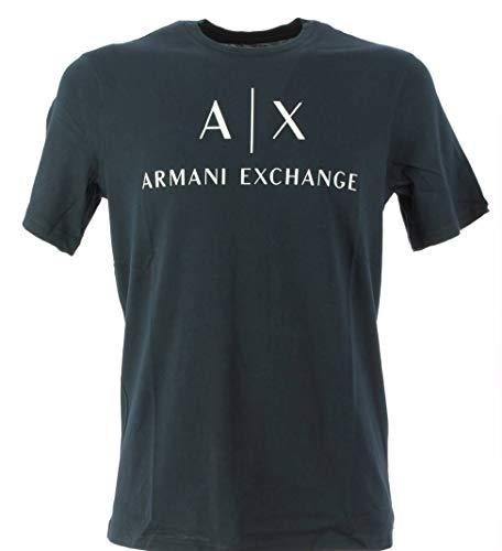 Armani Exchange 8nztcj Camiseta, Azul (Navy 1510), M para Hombre