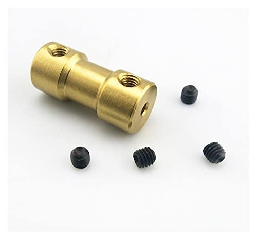TANGJIANCHENG - Acoplador C 5 piezas de acoplamiento de eje flexible de latón para conector de transmisión de motor eje 2/3/4/5/6 mm (diámetro interior: 3 mm a 5 mm)