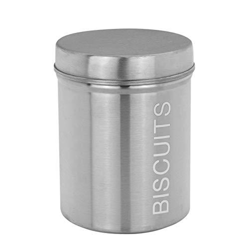 Harbour Housewares Boîte à Biscuit métallique - pour Cuisine - argenté - 136 x 170 mm