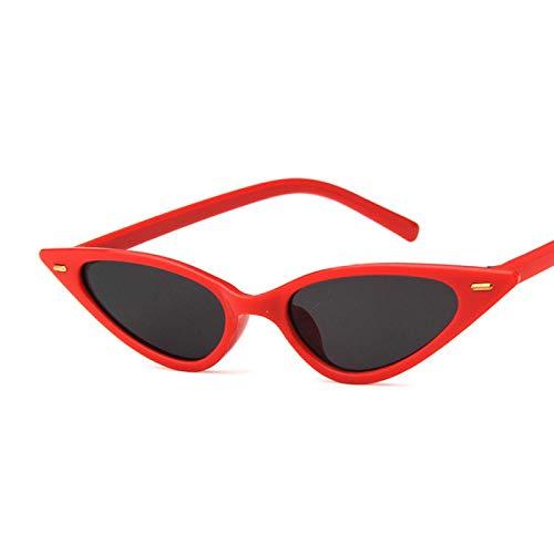 Sunglasses Gafas de Sol de Moda Gafas De Sol De Ojo De Gato Sexis para Mujer, Gafas De Sol Clásicas Triangulares Pequeña