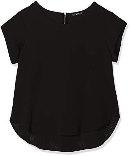 ONLY Damen 15142784 T-Shirt, Schwarz (Black Black), (Herstellergröße: 44)