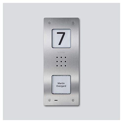 Siedle&Söhne CAU 850-1-0 E - Stazione audio per porta, in acciaio INOX spazzolato