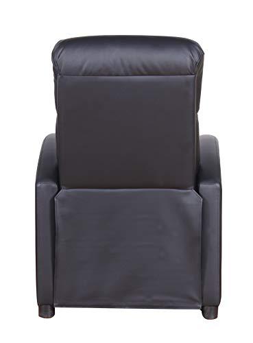 PRIXTON - Poltrona Relax Reclinabile/Poltrone Relax Reclinabile da Massaggio Elettrica Reclinabile con Funzione di Riscaldamento, Telecomando Incluso, Colore Nero, Dimensioni 65x89x101