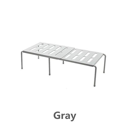 Keuken Organisatie en Opslag Manden Planken Closet Organizer Plank Grijs 15X24x69cm voor Rek Ruimtebesparende Garderobe Decoratieve Kast Houders, Grijs