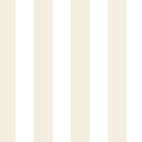 CG28810 - Rose Garden Striped Beige Cream White Galerie Wallpaper