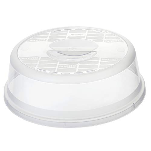 Rotho Basic, Cubierta del microondas, Plástico PP sin BPA, transparente, 28.5 x 28.5 x 9.2 cm