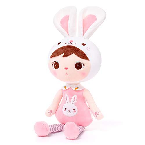 Gloveleya Puppen Babypuppen Weiche Stoffpuppe Puppe Geschenke für mädchen Alter 0+ Rosa Hase