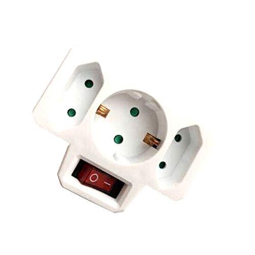 4.8MM EU Standard Power Adapter DIN Plug 1 to 3 Plug 250V Travel Adaptor Power Converter Socket