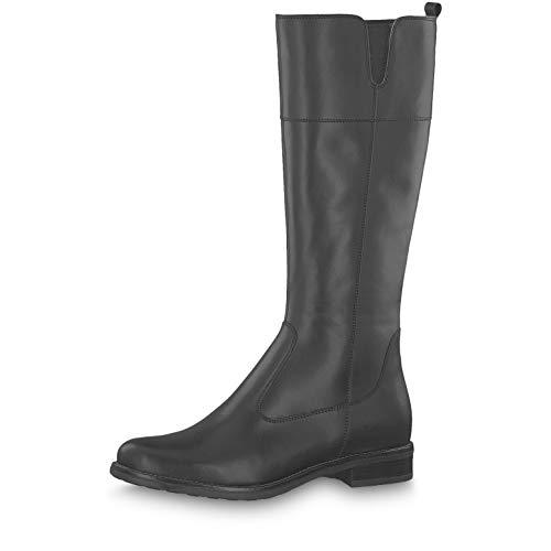Tamaris Damen Stiefel 25562-23, Frauen KlassischeStiefel, Women's Women Woman Freizeit leger Boots lederstiefel reißverschluss,Black,39 EU / 5.5 UK