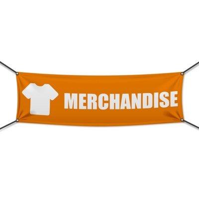 (PVC) Merchandise Festival Banner, Plane, Werbeschild, Werbung, Werbebanner, 300 x 100 cm, DRUCKUNDSO