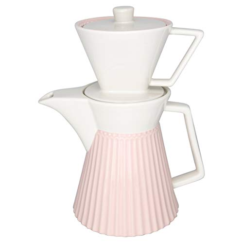GreenGate STWCOFWAALI1902 Alice Kaffeekanne mit Filteraufsatz Pale pink 25cm (1 Stück)