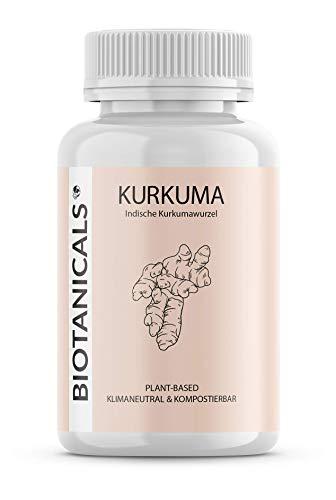Kurkuma Pulver Kapseln (120 Stück) - Curcuma Extrakt und schwarzer Pfeffer - mit Curcumin & Piperin - vegan