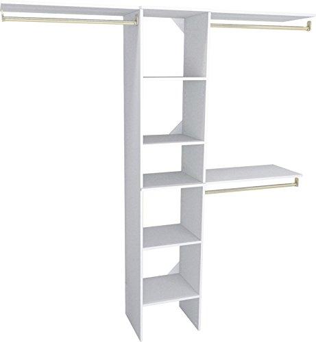 ClosetMaid 1951040 SuiteSymphony 16-Inch Closet Organizer with Shelves, Pure White
