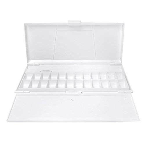 Paleta, caja de paleta de acuarela plegable de plástico rectangular Caja de paleta de pintura de artista Suministros de paleta de pintura de acuarela para pinturas al óleo de acuarela y acrílicas