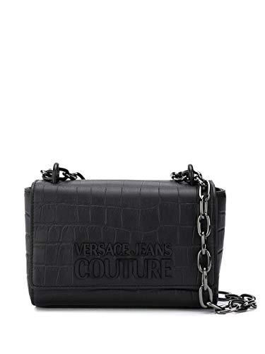 Luxury Fashion | Versace Jeans Dames E1VVBBL471411899 Zwart Leer Schoudertassen | Lente-zomer 20