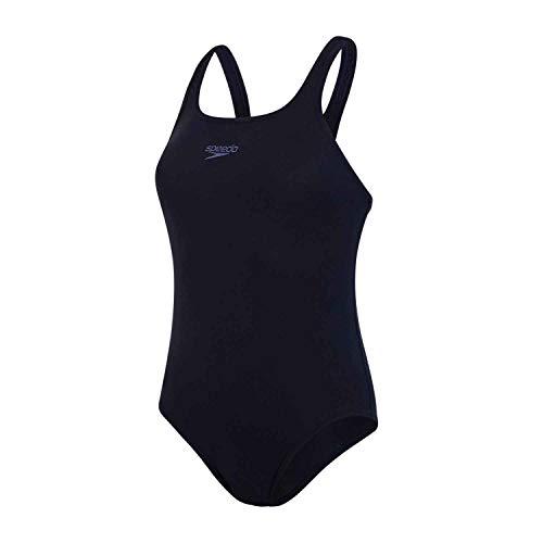 Speedo Essential Endurance+ Medalist Badeanzug Damen Sport, Schwimmanzug Damen, True Navy, Größe 42