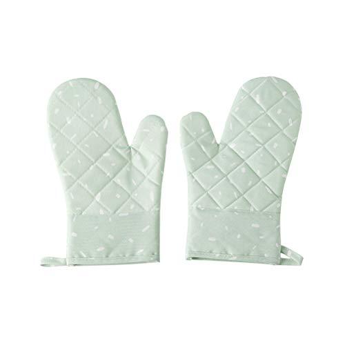 BESTONZON Guantes de horno resistentes al calor Golves antideslizantes para golf, de cocina, guantes de horno (verde claro)