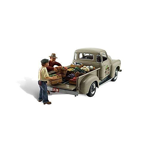 Autoscene Paul's Fresh Produce Pickup Truck w/Figures HO Scale Woodland Scenics by Woodland Scenics