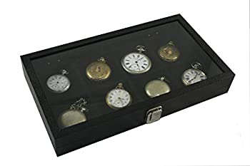 8 Pocket Watch Show Case Display Antique Jewelry Supply Glass Top