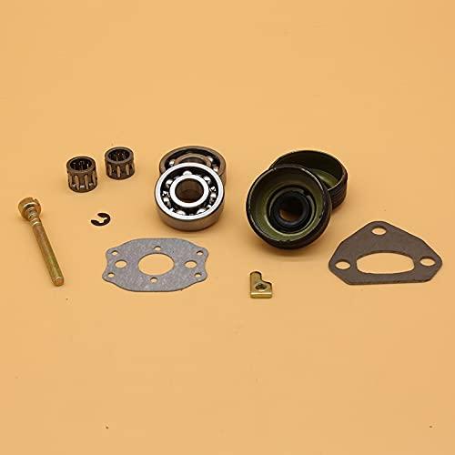 Piezas de repuesto del sello de aceite del ajustador del tensor de la cadena del cojinete del cigüeñal para Husqvarna 136137141142 36 41 Piezas de reparación de motosierra Accesorios 530 05 63-63