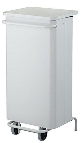 Otto-Office - Collecteur de déchets blanc - 110 litres