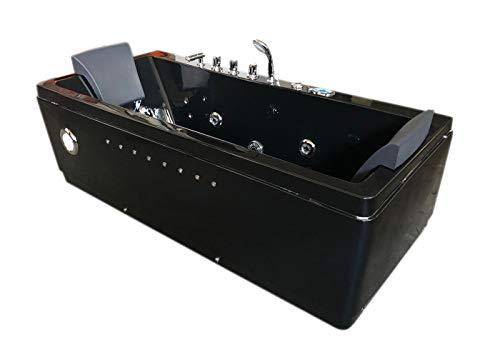Bañera hidromasaje Bañera de Esquina Terapia luz de colore bomba doble 180x85 cm