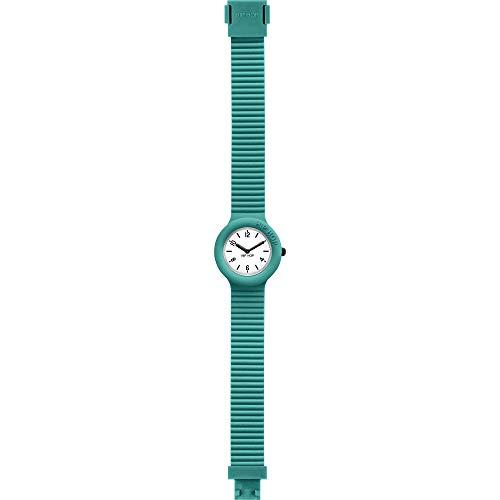 HIP HOP - Orologio da Donna, Quadrante Mono-Colore Bianco, Movimento Solo Tempo - 3H Quarzo, Cinturino in Silicone (Verde)