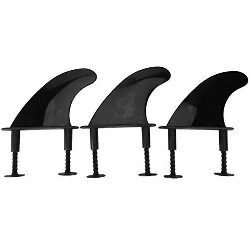 DAUERHAFT Aletas de Tabla de Surf Accesorios portátiles, para Surfear(Black, Fin Width 117* Height 116mm)