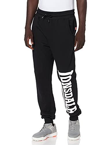 Lonsdale London Logo Large Pantaloni della Tuta, Nero, 5XL Uomo