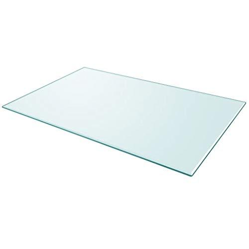 Nishore Cristal Cuadrado Tablero de Mesa Templado de Cristal para Mantener Transparente 1000 x 620mm Grosor 8 mm