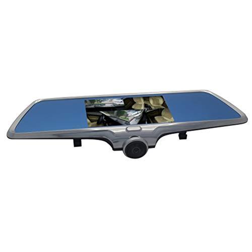 ZZLYY Dashcam, Full HD 1080P Cámara para Coche 360° Grados de Amplio Ángulo con Detección De Movimiento, Visión Nocturna, G-Sensor, Loop de Grabación, 5' LCD Pantalla,doublelens