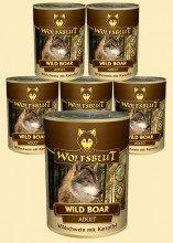 Wolfsblut Wild Boar Adult Nassfutter für Hunde mit Wildschwein und Kartoffeln - 6 x 800 g