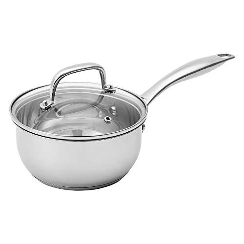 Amazon Basics Stainless Steel Sauce Pan with Lid