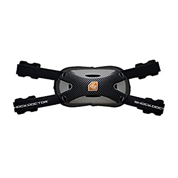 Shock Doctor Carbon Football Chin Strap Attaches to Helmet for Youth Adult Kids Hard Shell for Protection and Comfort