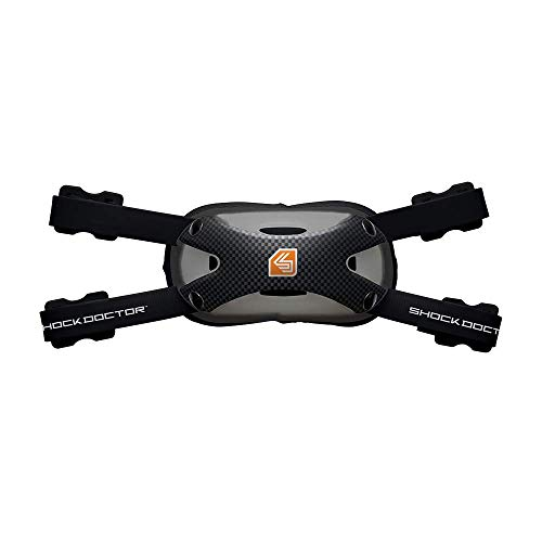 Shock Doctor Carbon Football Chin Strap. Attaches to Helmet. For Youth, Adult, Kids. Hard Shell for Protection and Comfort