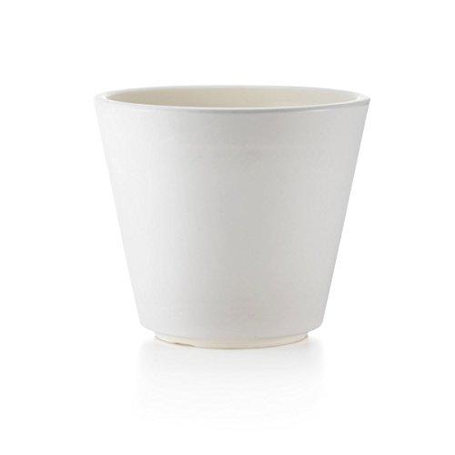 Teraplast Ribeira 50cm Fioriera, Plastica 100%, Bianco, 50 cm