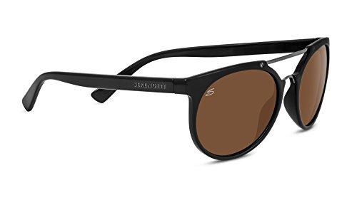 Serengeti Eyewear Sonnenbrille Lerici, Shinyack/Shiny Dark Gun/Polarized Drivers, 8350