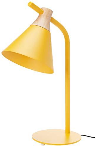 Umi. by Amazon - Lámpara para mesilla de noche, cónica, 53,34cm, amarillo