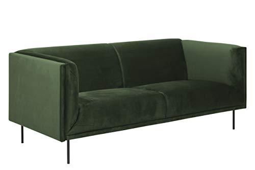 Amazon Brand - Movian Ola - Sofá de 3 plazas, 88 x 200 x 79 cm (largo x ancho x alto), verde oscuro