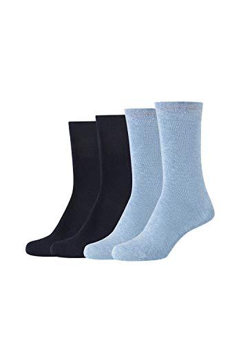 Camano Damen Socken 4er-Pack ca-soft mit weichem Komfortbund navy, 39-42