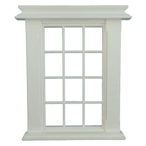 Melody Jane Puppenhaus Miniatur Weiß Kunststoff Georgischer Fensterrahmen 12 Ausschnitt 1:24 Maßstab