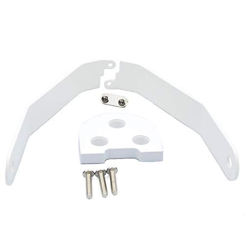 Vestigia® - Aluminio de Soporte para Guardabarros para Xiaomi M365 / Pro Scooter, Kits de Modificación, M365 Accesorios, Patinete Electrico, Scooter Accesorios (Blanco)