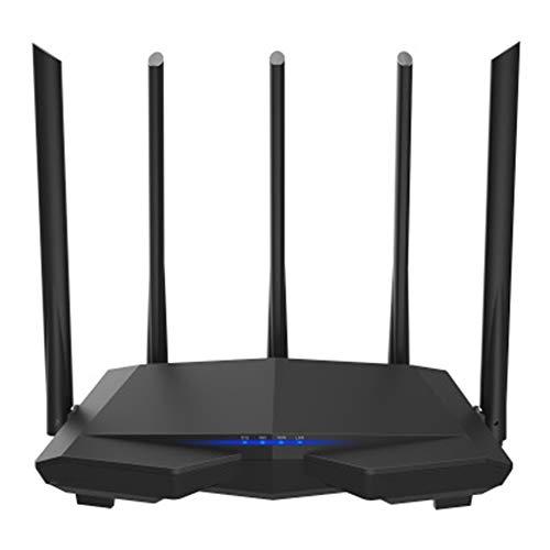 JINSE draadloze wifi-router 11ac 2,4 ghz/5,0 ghz wifi-repeater 1 * wan+ 3 * LAN-poorten 5 * 6dbi high-gain antennes Smart App beheren.