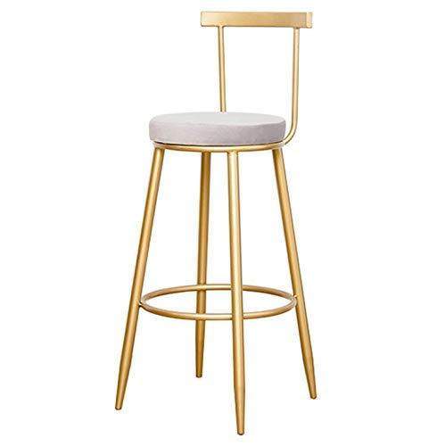 WGEMXC Stühle, Hochstühle, Barstühle, Hocker Barhocker Moderne Runde Polster Barhocker Frühstück Rückenlehne Pub High Chair Café,45 cm,45 cm