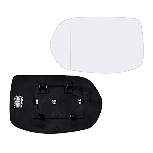 Left Hand Driver Side Mirror Assembly Plastic Backing Plate Heated Defrost Glass Compatible With 2012-2016 Honda CRV 2016-2019 HRV 7-1/2 Inch Diagonal Sold By Rugged TUFF