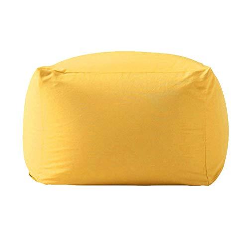 WXFN Funda para Sillón Bean Bag Lounger para Adultos Sin Relleno Guardar Todos Los Peluches 65X65x43cm,L,65x65x43cm