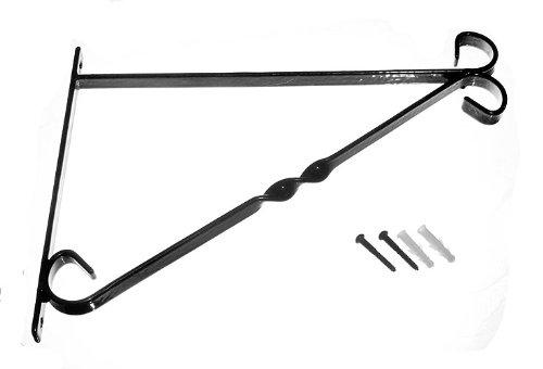 Veel van 10 Beugel Voor 14 Inch Hangende Mand Zwart Kunststof Gecoat Staal + Bevestigingen