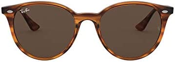 Ray-Ban RB4305 Round Sunglasses, Havana/Dark Brown, 53 mm