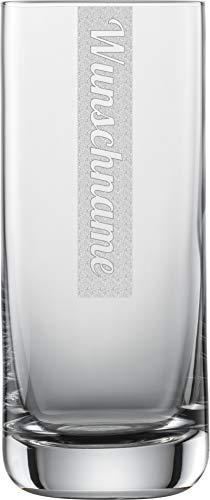 Miriquidi Longdrinkgläser 2er Set mit Gravur | 2 Stück Longdrinkglas 390ml Schott Glas mit Namen | Spülmaschinenfest | Longdrinkgläser & Individuelle Lasergravur