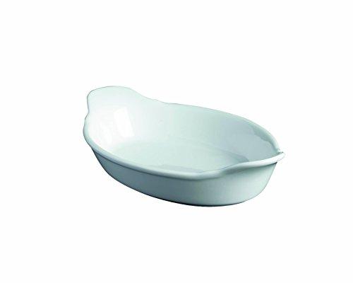 Genware B23d-w Royal ovale Motif Dish, 16.5 cm, Blanc (lot de 6)